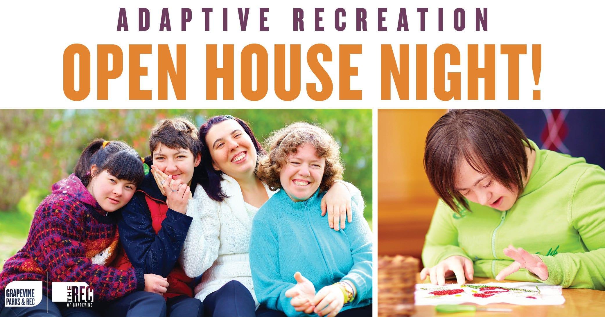 Adaptive Rec Open House Night Banner