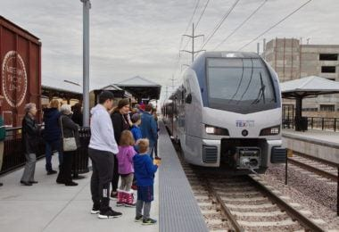 TexRail stop in Grapevine