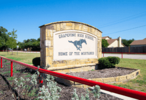 Grapevine High School Sign