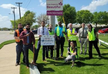 Keep Grapevine Beautiful Adopt An Hwy Sign Group Pic
